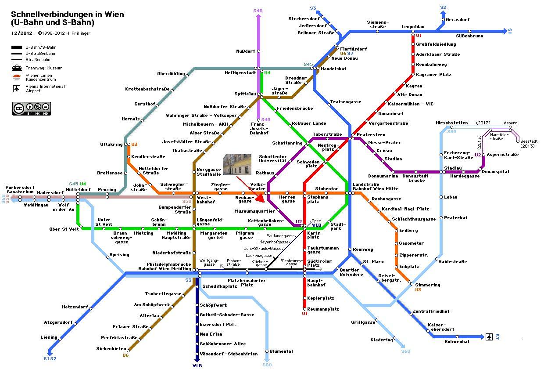 Subway and Train in Vienna